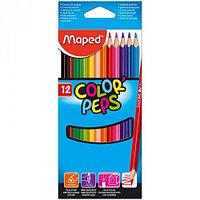Цветные карандаши Maped 12 цветов (Пластиковый корпус)