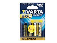 "Батарейки VARTA ""Longlife"" ААА (мизинчиковые) 4 шт/упак"