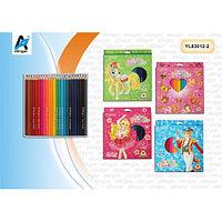 Набор цветных карандашей Yalong 24 цвета