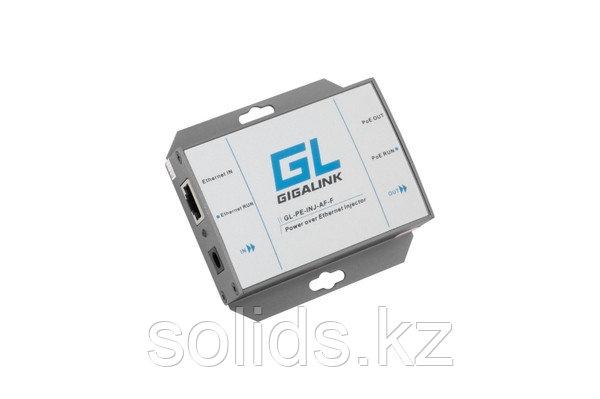 Инжектор PoE GIGALINK, 100Мбит/с, 802.3at High Power, шт