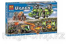 """Конструктор Urban """"Грузовой вертолет исследователей вулканов""""  Bela арт. 10642, 1325дет."""