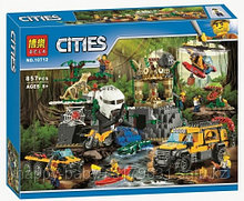 Конструктор BELA City База исследователей джунглей 10712  857 дет