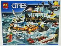 Конструктор BELA City Штаб береговой охраны 10755 - 844 дет, фото 1