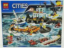 Конструктор BELA City Штаб береговой охраны 10755 - 844 дет