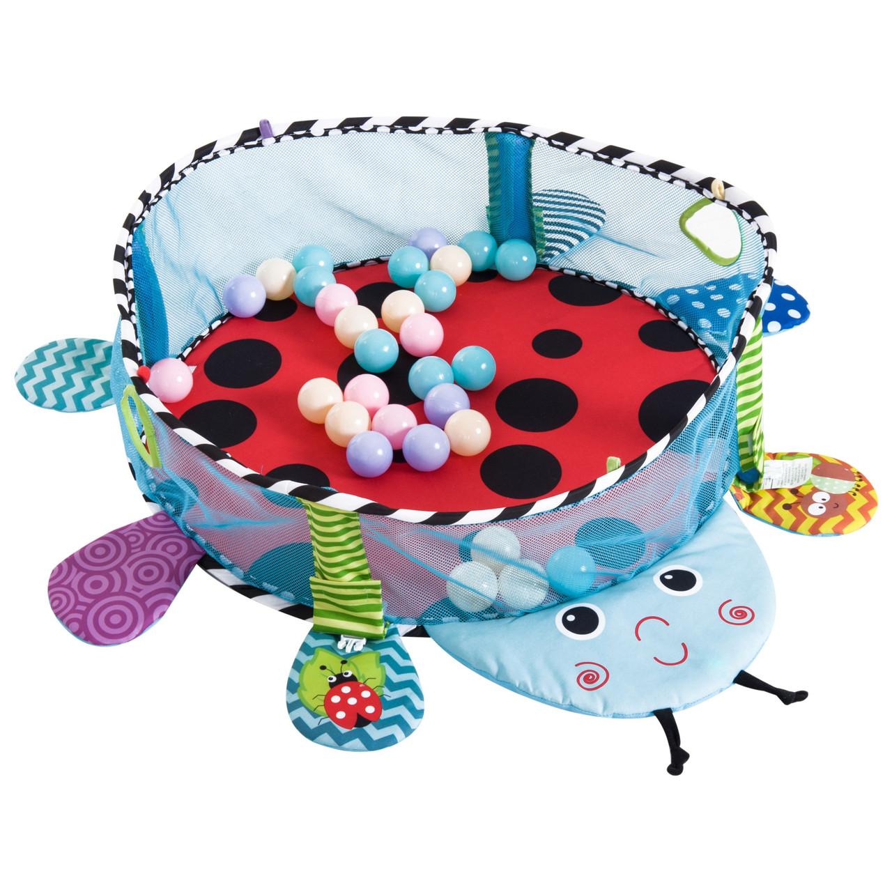 """Детский многофункциональный коврик с бассейном и шарами Konig Kids """"Божья коровка"""""""