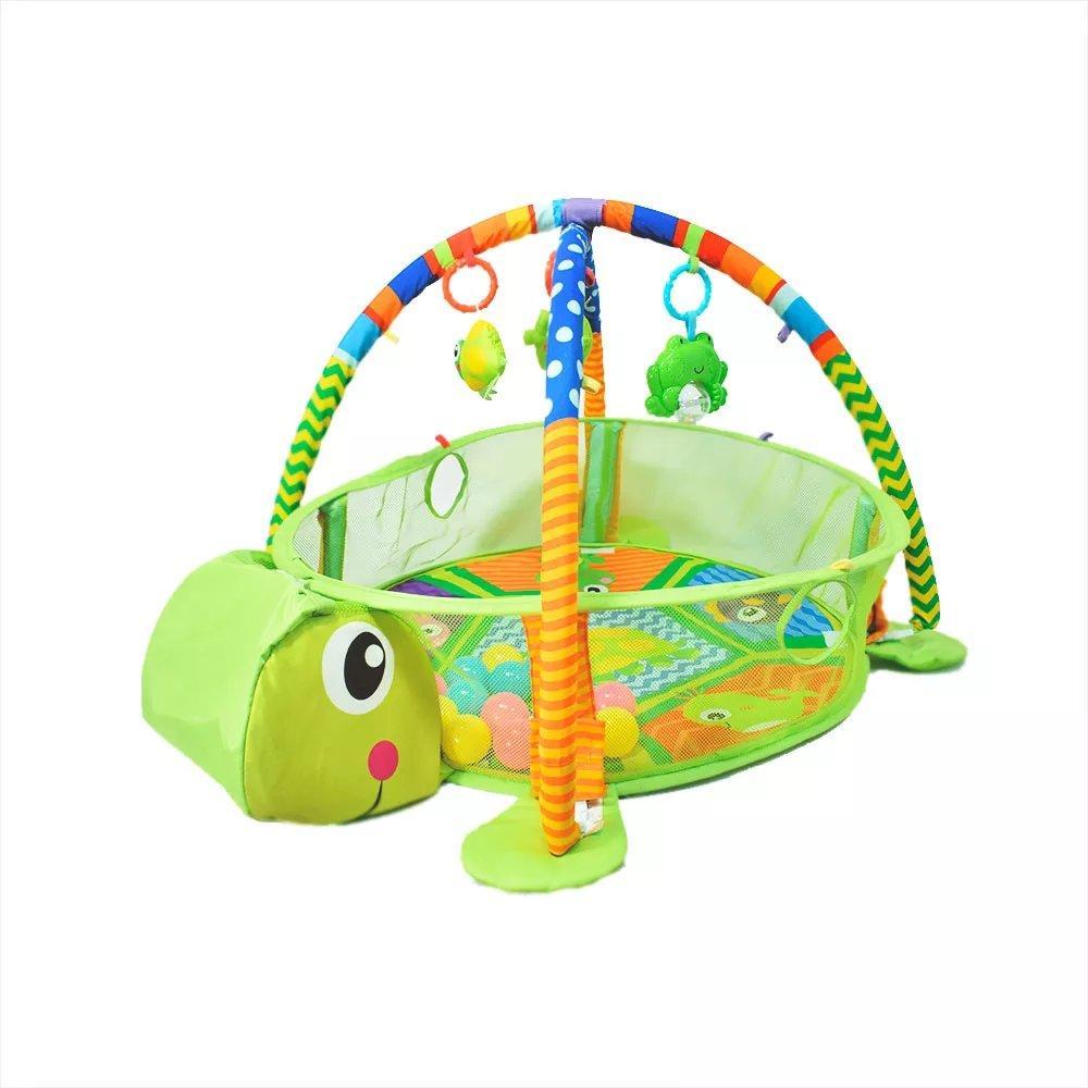 """Детский многофункциональный коврик с бассейном и шарами Konig Kids """"Черепаха"""""""