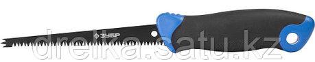 Выкружная мини-ножовка для гипсокартона. ЗУБР 150 мм, 8 TPI, 3D-заточка, 2-комп рукоятка, фото 2