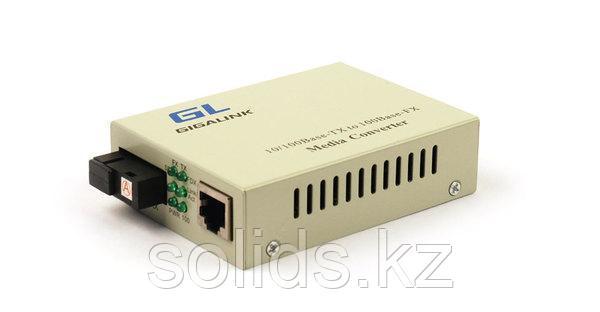 Конвертер GIGALINK UTP, 100Мбит/c, WDM, без LFP, SM, SC, Tx:1310/Rx:1550, 18 дБ (до 20 км), шт