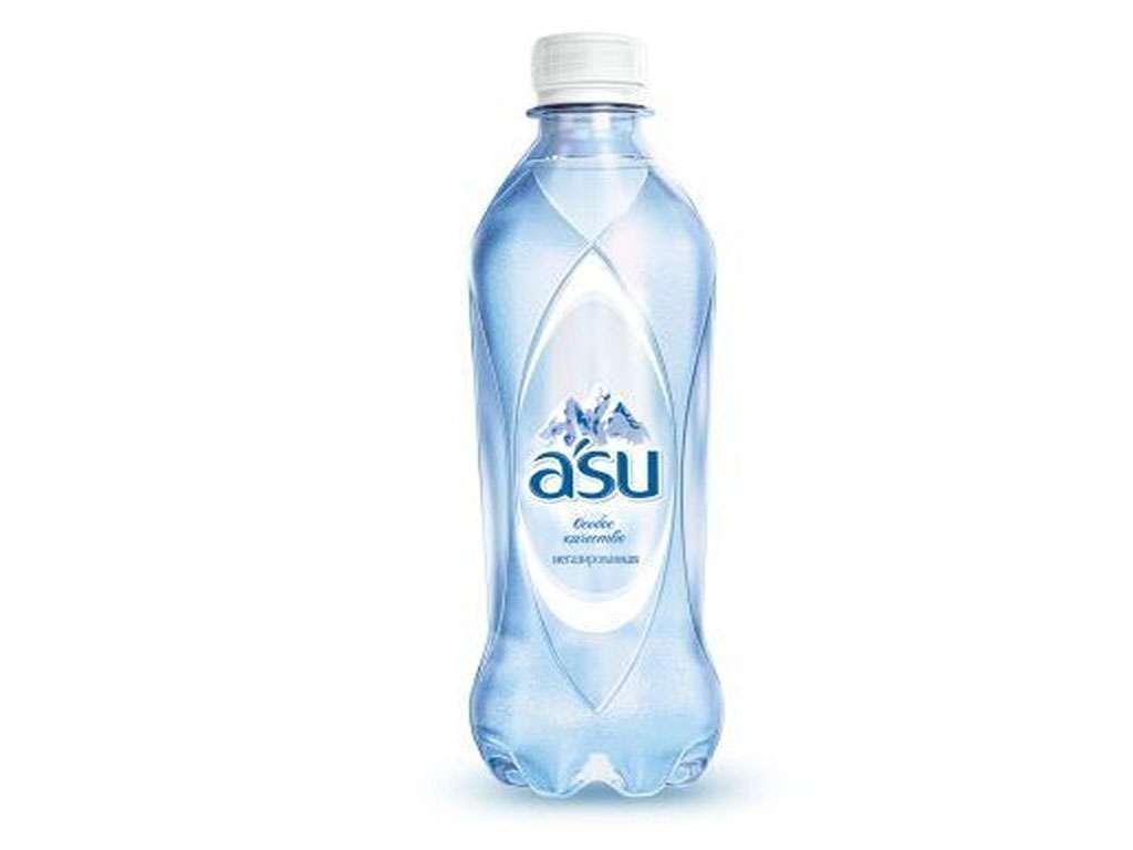 """Вода негазированная """"ASU"""", 1 литр"""