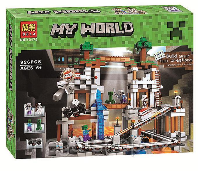 "Конструктор Bela Minecraft MY WORLD ""Шахта"" 926 деталей арт. 10179"