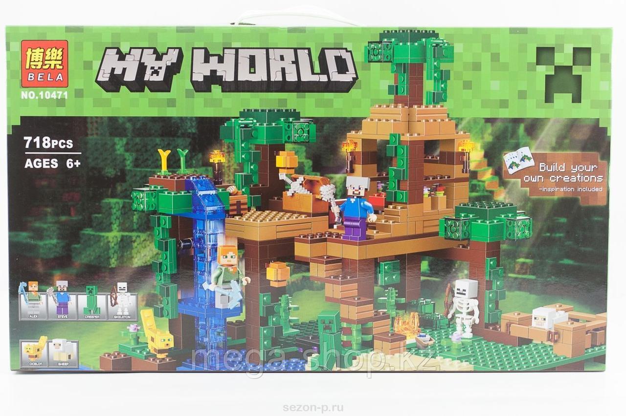 """Конструктор Bela Minecraft """"Домик на дереве в джунглях"""" 718 деталей арт. 10471 (аналог LEGO 21125)"""