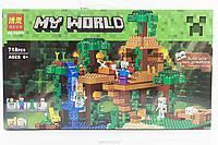 """Конструктор Bela Minecraft """"Домик на дереве в джунглях"""" 718 деталей арт. 10471 (аналог LEGO 21125), фото 1"""