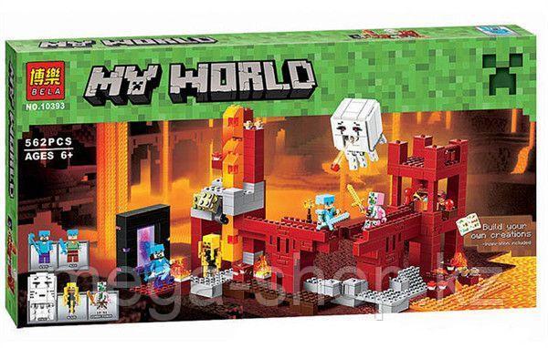 """Конструктор Bela Minecraft """"Крепость Нижнего ира"""" 571 деталей арт. 10393"""