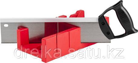 """Набор ЗУБР """"МАСТЕР"""": Стусло пластмассовое + ножовка с пластиковой рукояткой с усиленным обушком, фото 2"""
