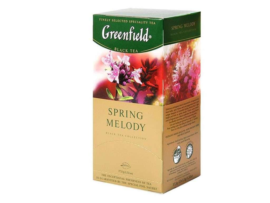 Чай Greenfield Spring Melody черный с чабрецом, 25 пакетиков