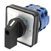 Переключатель кулачковый LW8 3P ПГЛ8-3КГ-3П 25А (1-0-2) с фиксацией (3-поз., 3 пакета)