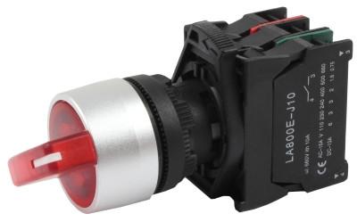 Переключатель поворотный LA800E BHL 221 ПФЛ-221-НОЗ 10A двухпозиционный с возвратом