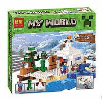 """Конструктор Bela  """"Снежное укрытие"""" Minecraft 327 деталей арт. 10391, фото 1"""