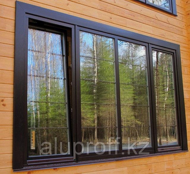 Алюминиевое окно с окраской