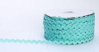 Декоративная лента для одежды, кружевная, аквамариновый