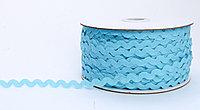 Декоративная лента для одежды, кружевная, голубая