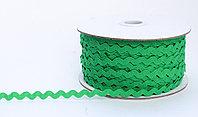 Декоративная лента для одежды, кружевная, темно-зеленая