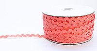 Декоративная лента для одежды, кружевная, коралловая
