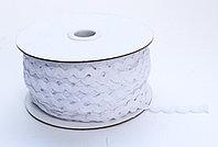 Декоративная лента для одежды, кружевная, белая