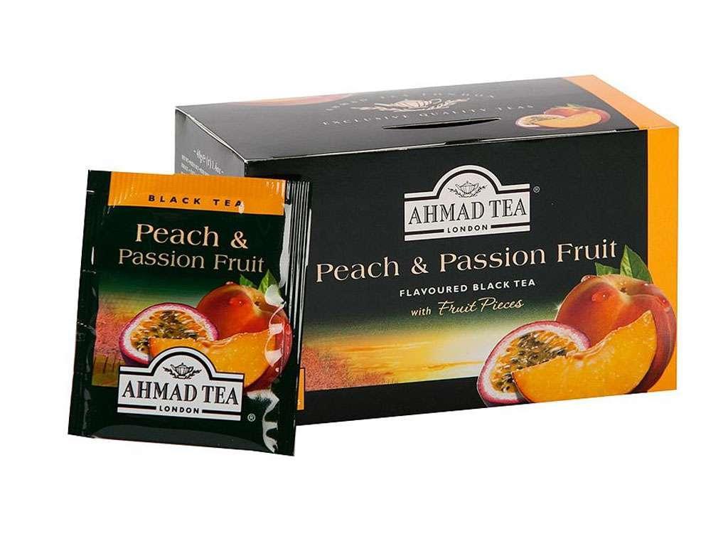 Чай AHMAD Peach & Passion Fruit (Персик и маракуя), черный 20 пакетиков