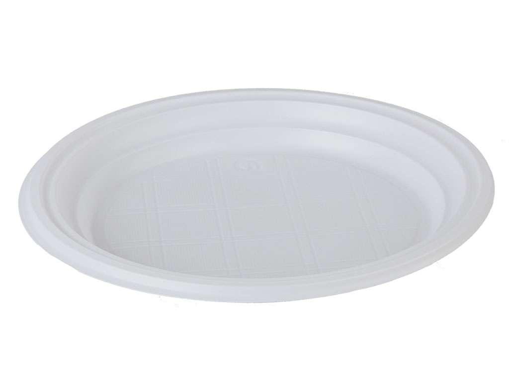 Тарелка одноразовая OfficeClean, пластиковая 170 мм, 100 штук в упаковке