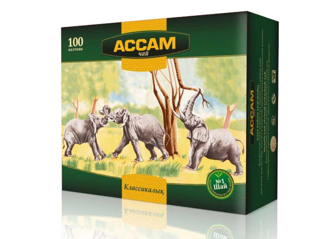 Чай Ассам черный, 100 пакетиков