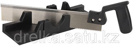 """Набор STAYER """"MASTER"""": cтусло пластмассовое + пила для стусла, ножовка 300мм, заточенный зуб 11TPI, фото 2"""
