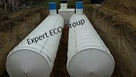Емкость V=15 куб, резервуар для воды цилиндрический из полипропилена