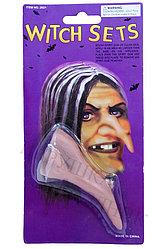 Накладной нос ведьмы с бородавкой, аксессуар для Хэллоуин, Алматы