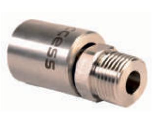 Прессованный наконечник из нержавеющей стали, наружная резьба ½'' для шлангов низкого давления