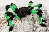Паук декоративный для Хэллоуина d 70 см зеленый