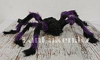 Паук декоративный для Хэллоуина d 70 см фиолетовый