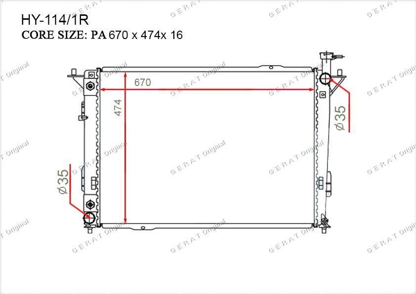 Радиатор основной 253102B400