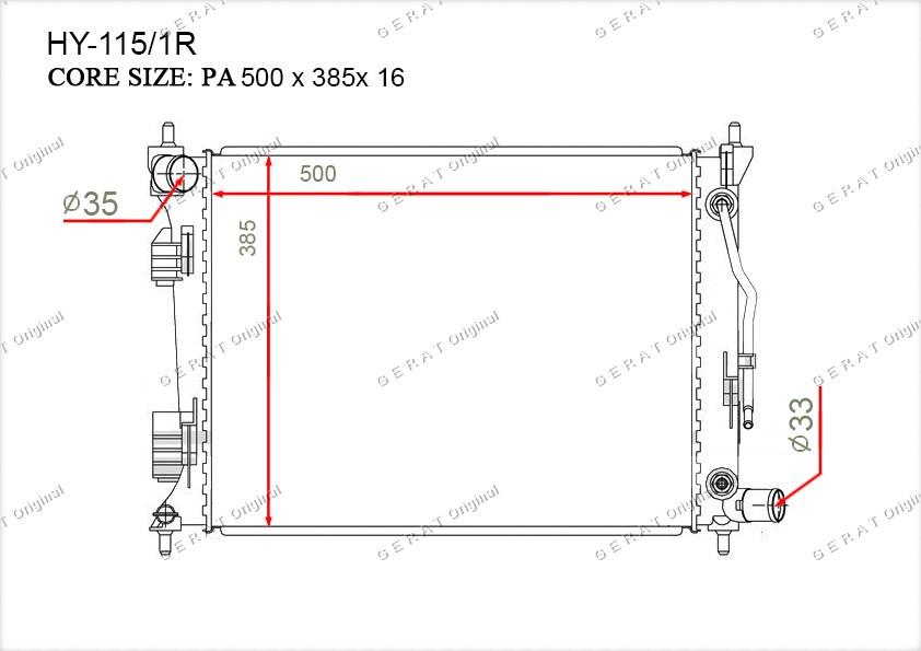 Радиатор основной 253101R050