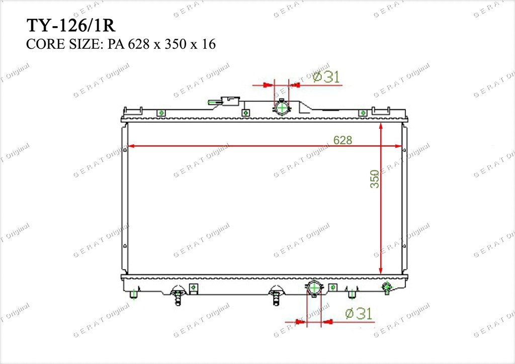 Радиатор основной 164000D030