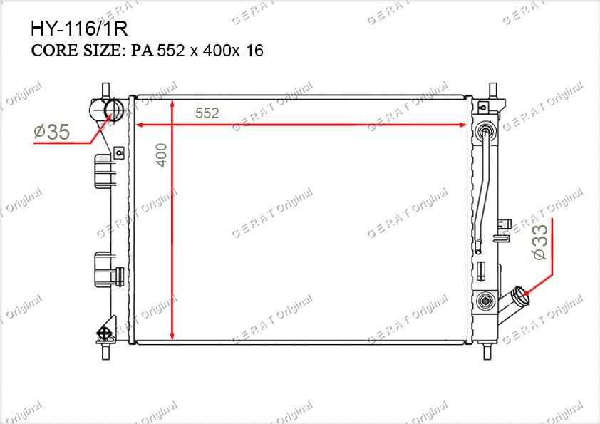 Радиатор основной 253103X011