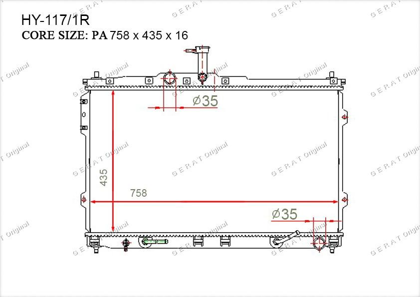 Радиатор основной 253104H550