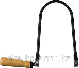 Лобзик ручной СИБИН с деревянной рукояткой (без полотна), 130x220 мм, фото 2