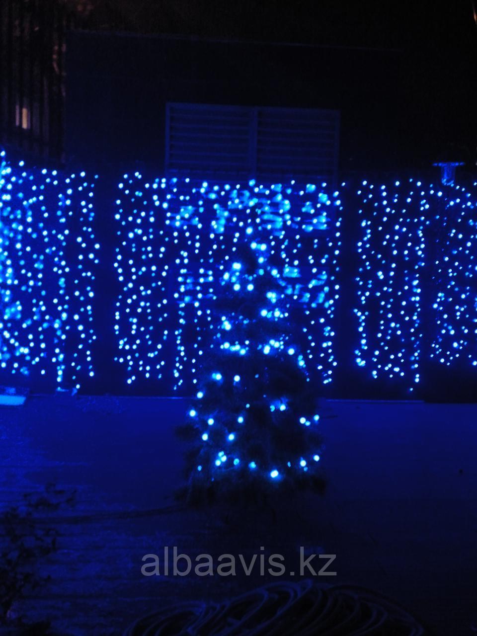 """Гирлянды светодиодные, новогодние, уличные LED гирлянда """"Шторки Занавес"""" 2*2 метра"""