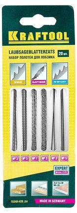 Набор полотен для лобз., двойной зуб: №3(4), №5(4), спиральн: №1(4), №3(4), по мет: №3(2), №5(2), 20шт., фото 2