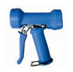 Пистолет из нержавеющей стали в резиновой защите