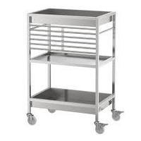 Столик с колесами КУНГСФОРС нержавеющ сталь ИКЕА, IKEA