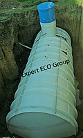 Емкость V=65 куб, резервуар для воды цилиндрический из полипропилена