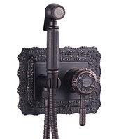 """Смеситель с гигиеническим душем, встраиваемый, черная бронза (LAO1R) LM6619ORB """"Жасмин"""""""