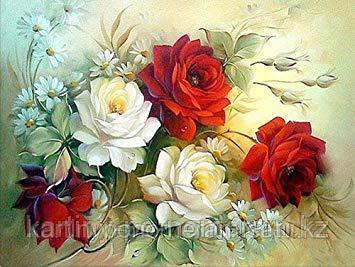 "Картина стразами на подрамнике (50х60 см) ""Розы для тебя"" MYL-043"